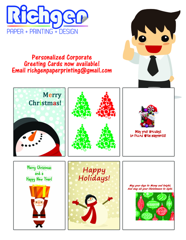 Greeting card printing quezon city manila philippines richgen personalized customized greeting card christmas printing m4hsunfo